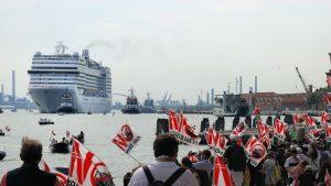 Veneția vas de croazieră protest