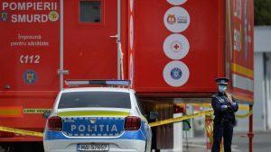 Mașină de poliție în București, la tragedia de ela tirul ATI de la Victor Babeș.