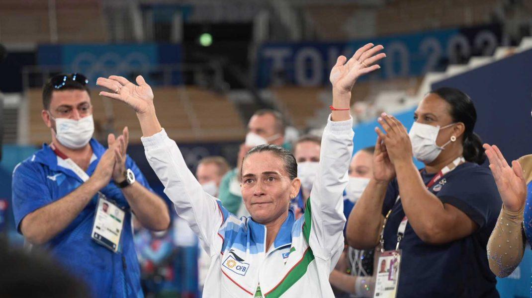 Oksana Chusovitina, la ultima participare la Jocurile Olimpice. Foto: Twitter/gymnastics