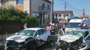 Accident cu șapte răniți în comuna 23 August din Constanța.