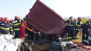 Accident rutier între localitățile Răcăciuni și Orbeni din județul Bacău.