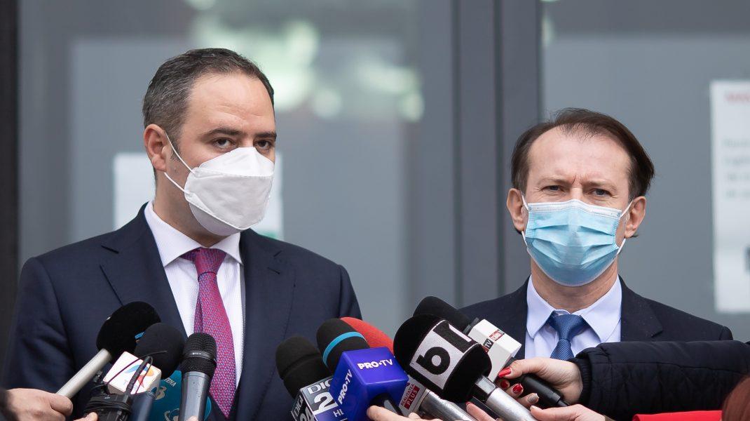Alexandru Nazare și Florin Cîțu. Foto: gov.ro