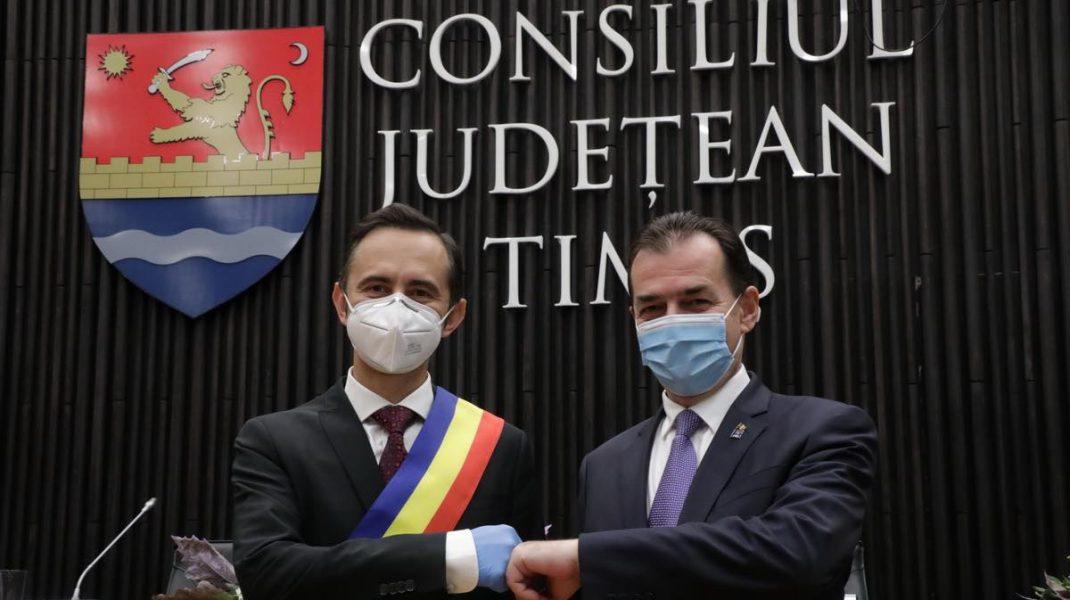 Alin Nica și Ludovic Orban în octombrie 2020. Foto: Facebook