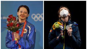Ana-Maria Branza cu medalia de argint la JO 2020.