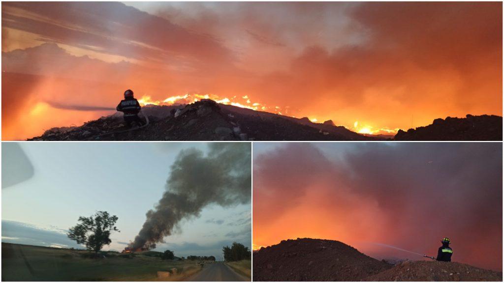Incendiu la groapa de gunoi din Arad.