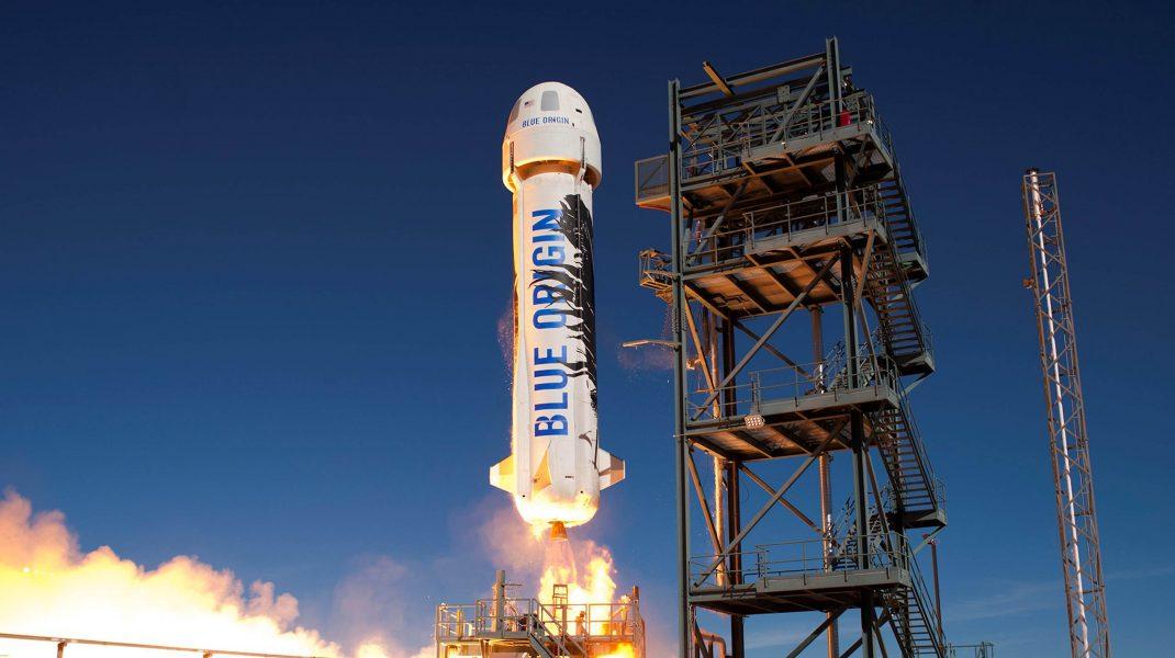 Racheta cu care a zburat în spațiu Jeff Bezos.