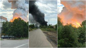 Incendiu la Constanța la un depozit de aluminiu.