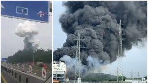 Explozie într-un parc industrial chimic din Leverkursen, Germania.