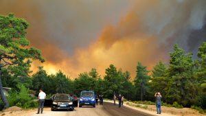 Incendii masive de vegetație în Antalya. Aerul este irespirabil în zonă. VIDEO
