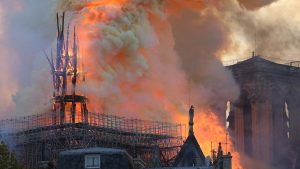 Incendiu la Catedrala Notre-Dame.
