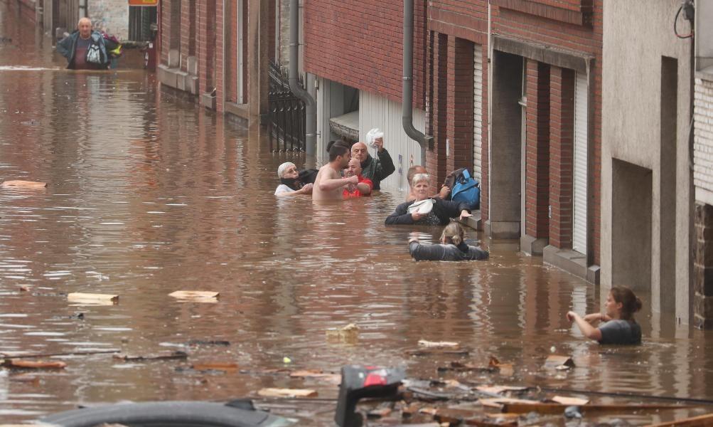 Inundații în Belgia.