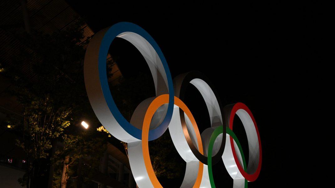 Logo-ul Jocurilor Olimpice de la Tokyo 2020.