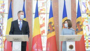 Klaus Iohannis și Maia Sandu. Foto: presidency.ro