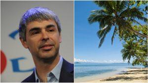 Colaj Foto cu Larry Page, cofondatorul Google, și o insulă din Fiji.