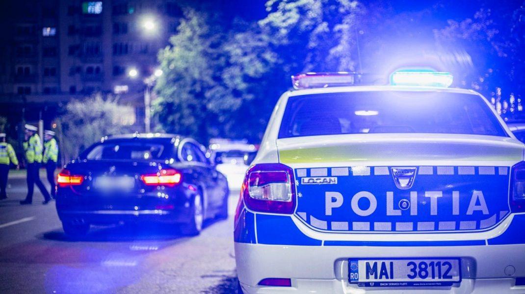 razie a politistilor in bucuresti pe timpul noptii.