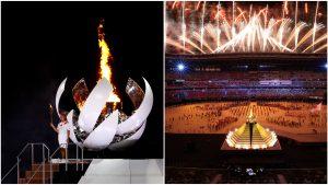 Naomi Osaka a aprins flacăra olimpică de pe Muntele Fiji de la Jocurile Olimpice Tokyo 2020.