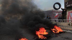 proteste in liban, in martie 2021.