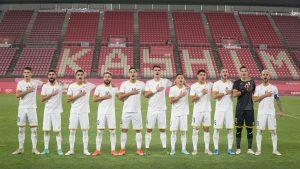 Echipa națională de fotbal a României la JO 2020.
