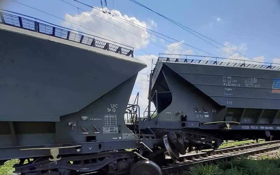 Trenul de marfă deraiat între București și Constanța.