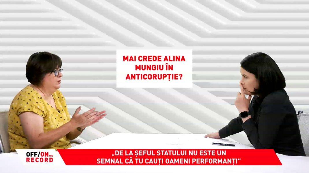 Alina Mungiu Pippidi și Sorina Matei în emisiunea OFF/ON THE RECORD de la Aleph News.