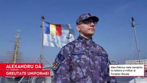 Alex Paliciuc, militar al fortelor navale si halterofil.