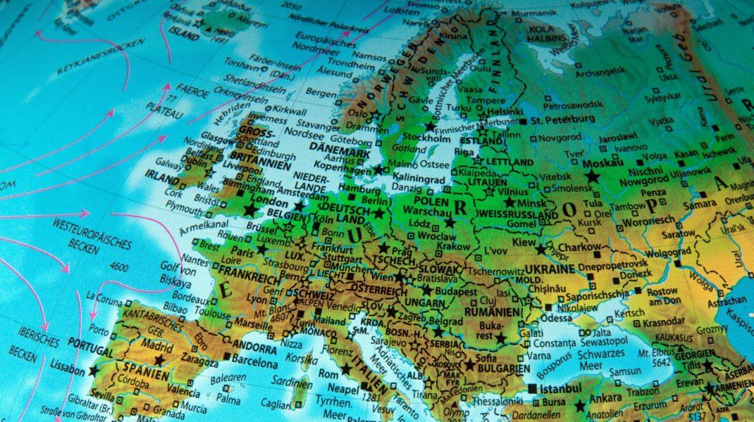 harta geografica a europei.