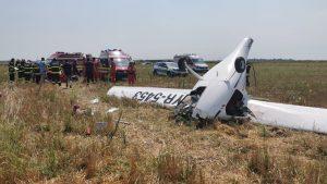 Avion prăbușit pe un câmp din Chitila.