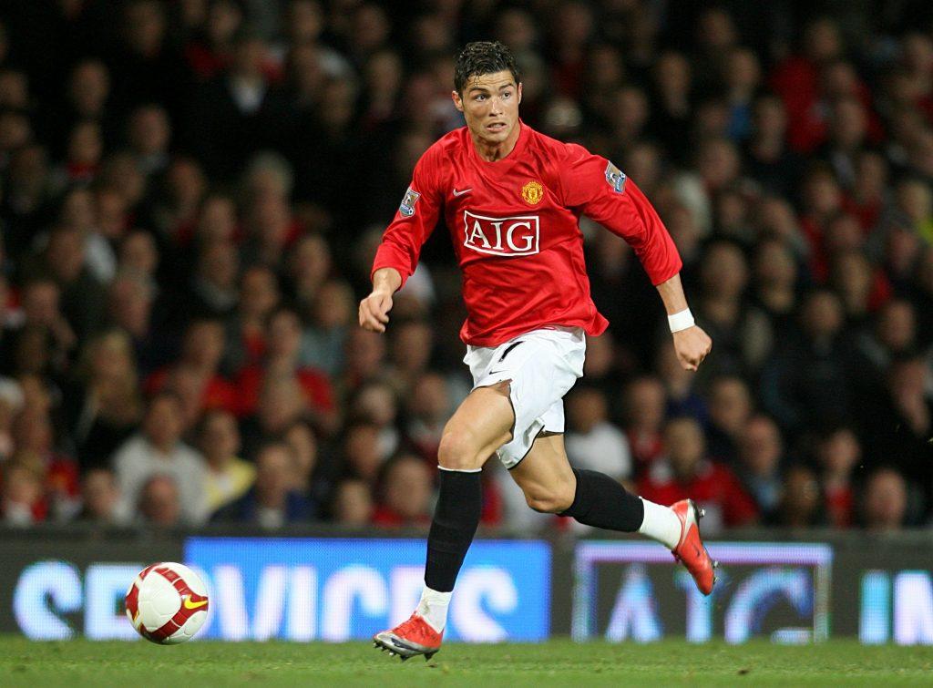 Cristiano Ronaldo în timpul unui meci de fotbal.