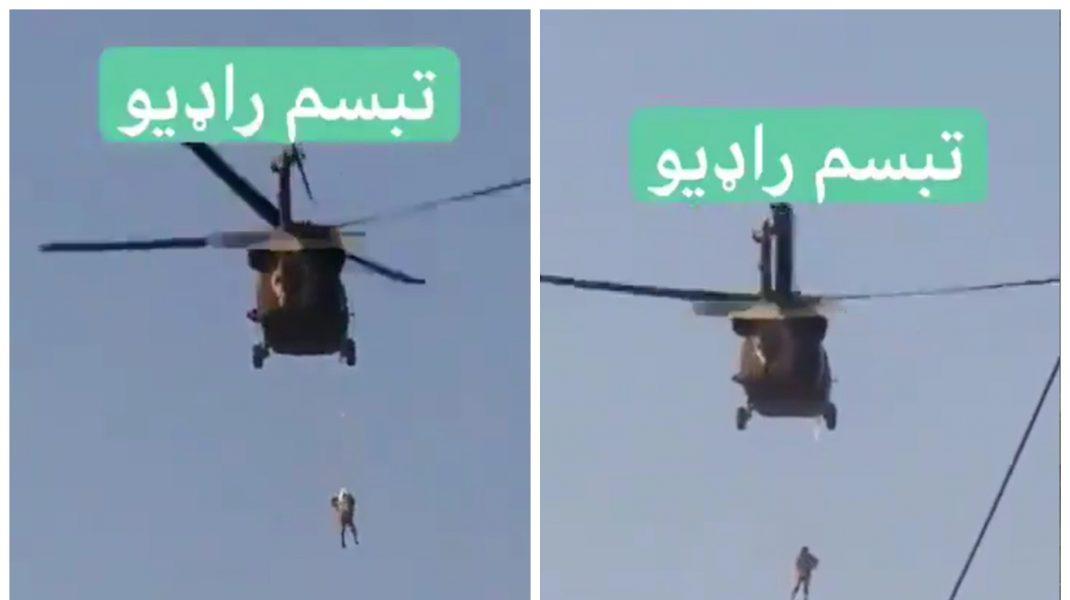 Elicopter Black Hawk pilotat de talibani.