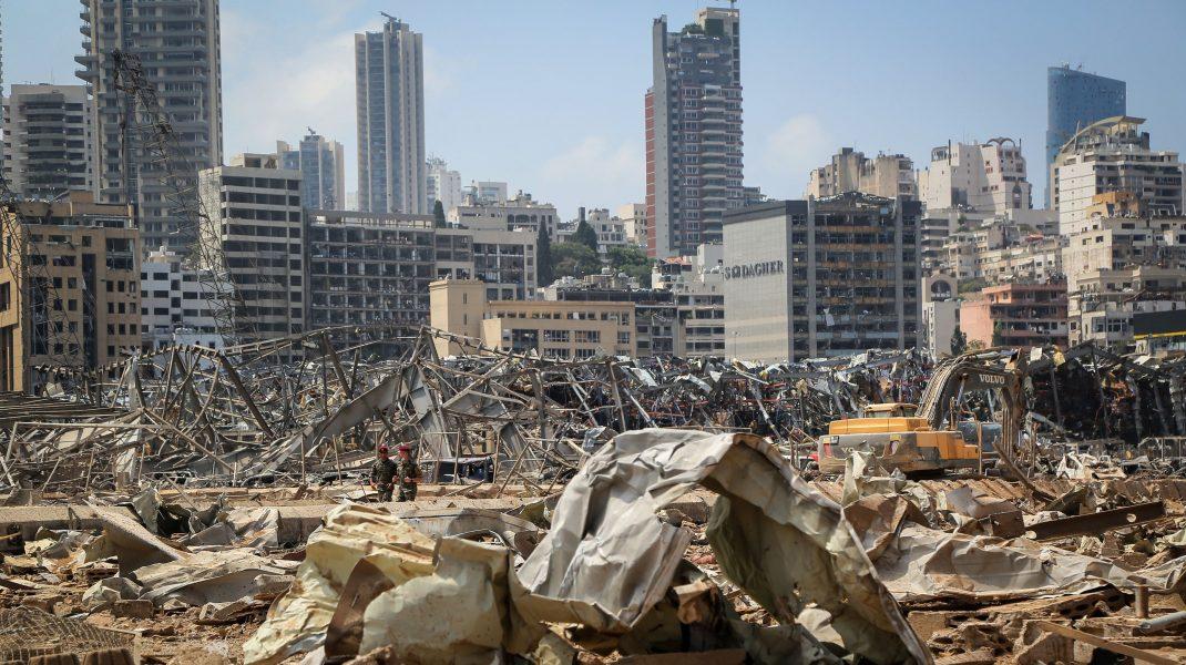 Beirut după explozia din port.