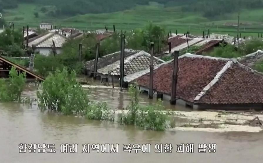Inundații în Coreea de Nord. Foto: captură BBC