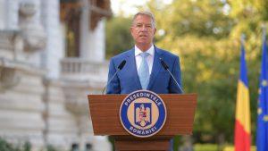 Declarație de presă a președintelui Klaus Iohannis la Palatul Cotroceni. Foto: presidency.ro