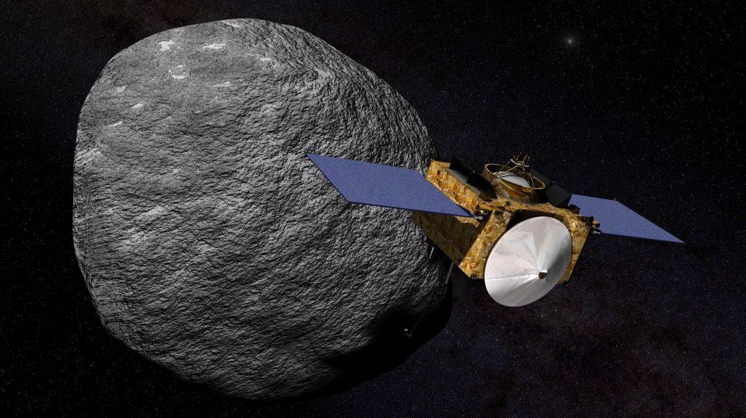 Nava NASA care orbitează în jurul asteroidului Bennu.