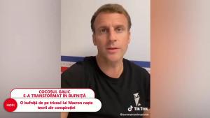 Președintele Franței poartă un tricou cu un însemn ciudat în timpul unei sesiuni video pe TikTok.