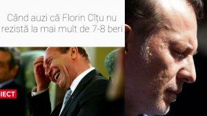 Colaj foto amuzant cu Traian Băsescu și Florin Cîțu.