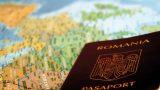pasaport romanesc pe o harta