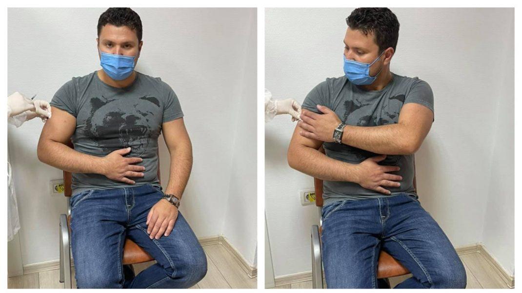 Primarul din Rădăuţi s-a dat în spectacol în centrul de vaccinare