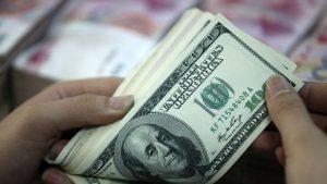 o femeie numara dolari americani.