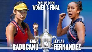 Finala adolescentelor la US Open: Emma Răducanu şi Leylah Annie Fernandez. Foto: Twitter/USOpen