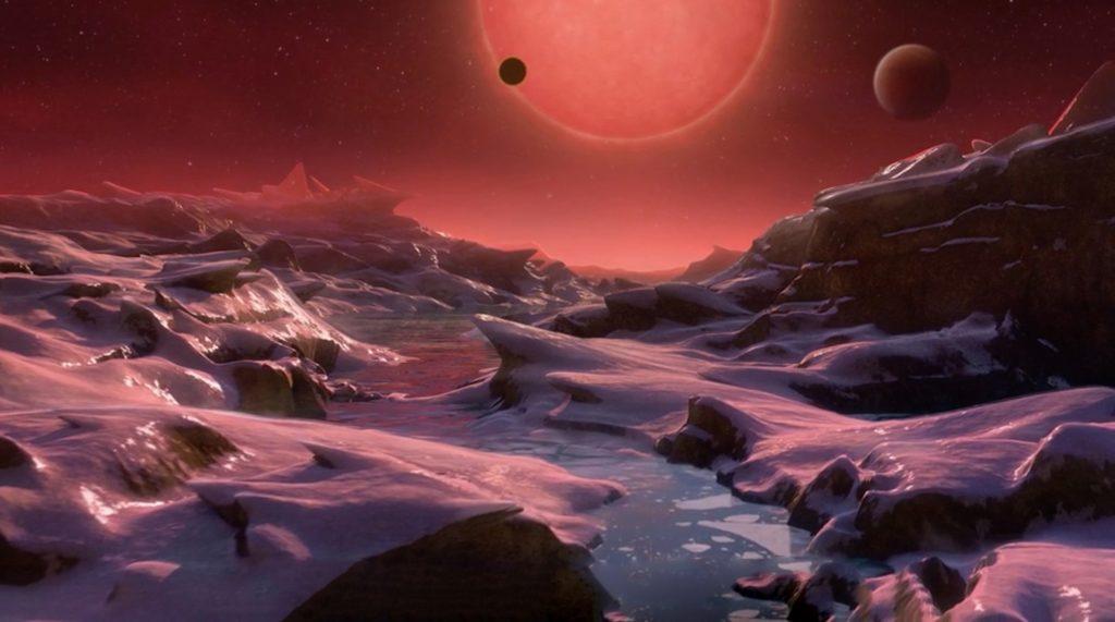 Imagine de pe o altă planetă.