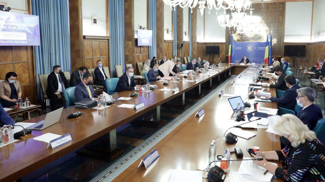 Ședința de guvern din 15 septembrie 2021. Foto: gov.ro