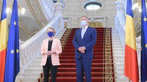 Ursula von der Leyen și Klaus Iohannis. Foto: presidency.ro