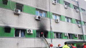 Incendiu la Spitalul de Boli Infecțioase Constanța.