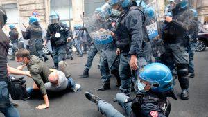 protste violenta la roma impotriva certificatului verde.